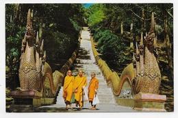(RECTO / VERSO) THAILANDE - BALASTRADES OF WAT PHRATHAT - BEAU TIMBRE - FORMAT CPA VOYAGEE - Thailand