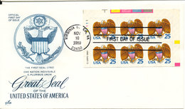 USA FDC Virginia Beach 10-10-1989 Great Seal Of The United States Of America Booklet Pane With ArtCraft Cachet - 1981-1990