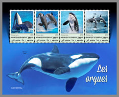 DJIBOUTI 2019 MNH Orcas M/S - IMPERFORATED - DH1914 - Baleines