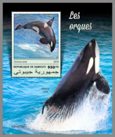 DJIBOUTI 2019 MNH Orcas S/S - IMPERFORATED - DH1914 - Baleines
