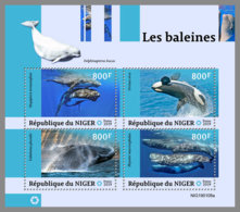 NIGER 2019 MNH Whales Wale Baleines M/S - IMPERFORATED - DH1914 - Baleines