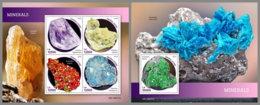 SIERRA LEONE 2019 MNH Minerals Mineralien Mineraux M/S+S/S - OFFICIAL ISSUE - DH1914 - Mineralen