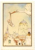 Geboortekaartje Carte De Naissance - Fabienne Vervaecke - Stanleyville Congo 1959 - Illustr Anton Pieck - Naissance & Baptême