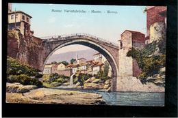 BOSNIA Mostar Narentabrücke Ca 1920 OLD POSTCARD - Bosnia And Herzegovina