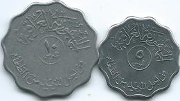 Iraq - Republic - AH1395 (1975) - FAO - 5 Fils (KM141) & 10 Fils (KM142) - Iraq