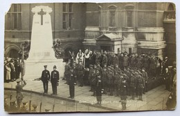 Carte Photo Cérémonie Militaire Au War Memorial à Croydon London Londres 1921 Guerre 14-18 WWI - Guerra 1914-18
