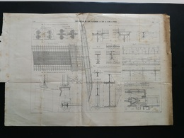 ANNALES PONTS Et CHAUSSEES (Dep75)- Plan De Construction Du Pont Alexandre III Sur La Seine -Imp.L.Courtier 1900 (CLC19) - Cartes Marines