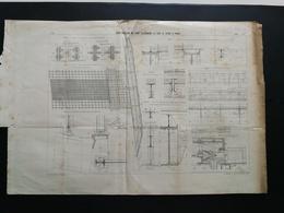 ANNALES PONTS Et CHAUSSEES (Dep75)- Plan De Construction Du Pont Alexandre III Sur La Seine -Imp.L.Courtier 1900 (CLC19) - Nautical Charts