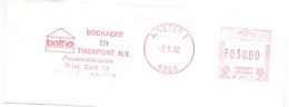 Stempel Cachet - Aalter - Bockaert En Thienpont N.V. - 1992 - Franking Machines