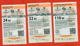 Czech Republic 2015-17. City Praha.Three Different Bus Tickets. - Bus