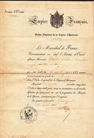 Ordre Imperial De La Legion  D Honneur Au Quartier General De  Sebastopol - Documenti Storici