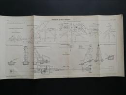 ANNALES PONTS Et CHAUSSEES (Dep01)- Plan De Construction Du Pont De Montanges - Imp.A Gentil 1911 (CLC20) - Nautical Charts