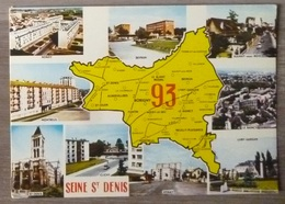 SEINE ST DENIS  (93).CARTE DEPARTEMENT 93.MULTIVUES.1986.TBE. - France