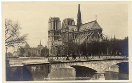 CPA 75 PARIS Cathédrale Notre Dame - Pont De L' Archevêché - Notre Dame De Paris