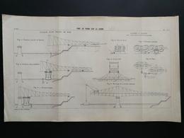 ANNALES PONTS Et CHAUSSEES (Dep01)- Plan De Construction Du Pont De Frans Sur La Saone -1903 (CLC21) - Nautical Charts