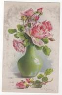 C Klein Pink Roses In Vase Vintage Art Postcard WHB - Klein, Catharina