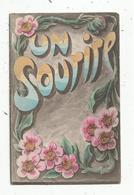 Cp , UN SOURIRE , Fleurs , Vierge , Ed. Brocherioux - Auguri - Feste