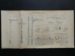 ANNALES PONTS Et CHAUSSEES (Dep13)- Plan De Tramways éléctriques De Marseille - Gravé Par G.Meyer - 1902 (CLC23) - Máquinas