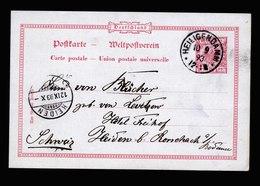 A6114) DR Ganzsachekarte Heiligendamm 10.09.93 N. Heiden / Schweiz - Deutschland