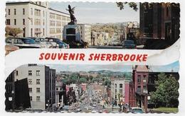 (RECTO / VERSO) SHERBROOKE - REINE DES CANTONS DE L' EST - BEAU TIMBRE - FORMAT CPA VOYAGEE - Sherbrooke