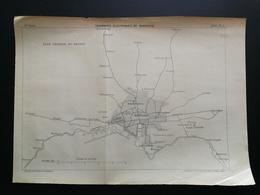 ANNALES PONTS Et CHAUSSEES (Dep13)- Plan De Tramways éléctriques De Marseille - Gravé Par G.Meyer - 1902 (CLC24) - Machines