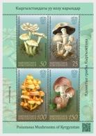 Kirgistan Kyrgyzstan MNH** 2019  Poisonous Mushrooms Of Kyrgyzstan Mi 121-24 Bl.34 Shipment Versand 12.05.19 M - Pilze