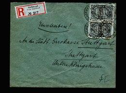 A6115) DR Infla R-Brief Gschwend 15.08.23 N. Stuttgart MeF Mi.252 (2) - Briefe U. Dokumente
