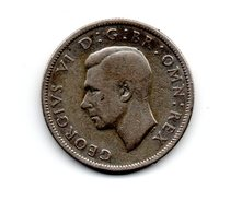 Great Britain 1939 GEORGE VI   TWO SHILLINGS (FLORIN)  USED VERY FINE CONDITION. (DH15/.) - 1902-1971 : Post-Victorian Coins
