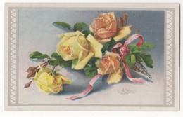 C Klein Pink Roses Vintage Art Postcard WHB - Klein, Catharina