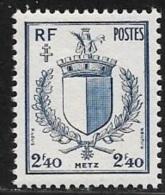 N° 734  FRANCE  -  NEUF -   ARMOIRIE LIBERATION  METZ  - 1945 - Francia