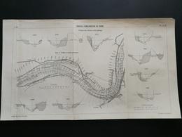 ANNALES PONTS Et CHAUSSEES (Dep 69) - Plan De Travaux D'amélioration Du Rhône - 1911 - Imp.A Gentil (CLC27) - Nautical Charts