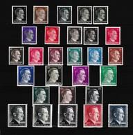 Duitse Rijk Kleine Verzameling 1941 Nr 705/26 *, Zeer Mooi Lot 4171 - Stamps