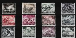 Duitse Rijk Kleine Verzameling 1943 Nr 748/59 *, Zeer Mooi Lot K972 - Stamps