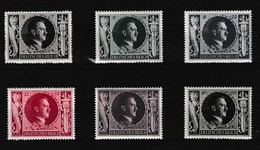 Duitse Rijk Kleine Verzameling 1943 Nr 763/68 *, Zeer Mooi Lot K973 - Stamps