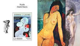 SIERRA LEONE 2018 - Nudes, Picasso - Mi B1507 - Picasso