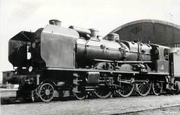 LOCOMOTIVE 231A12 à Tergnier,photo Renaud Format Carte Ancienne . - Trains