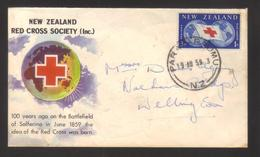 8666- New Zealand,  Cover To Wellington – Red Cross - New Zealand