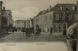 Scheveningen // Pronkstraat Met Hondenkar Ca 1900 Lichte Hk Vouw - Scheveningen
