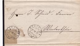 Lettre Stein Am Rhein 1873 Suisse Helvetia Bertha Schmid Lang - Brieven En Documenten