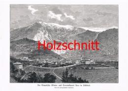 002-4 Arco Südtirol Berge Gardena Großbild HS 1891!! - Historische Dokumente