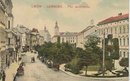 LWOW LEMBERG PLAC AKADEMICKI Animée Attelages - Ukraine