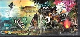 Vanuatu 1999 New Millennium MS MNH CV £4.50 - Fishes