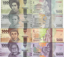 Indonesia 2016 - Set 4 Pcs 1000+2000+5000+10000 Rupiah - Pick NEW UNC - Indonésie