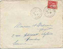 LETTRE 1934 AVEC CACHET PERLE DE  MARQUAY - DORDOGNE - Postmark Collection (Covers)