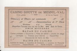 Mesnil Val La Plage Et Le Casino Pub Casino Au Dos - Mesnil-Val