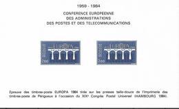 1984 Frankreich Mi. 2441-2 Bunddruck  Conferece Europeene - Europa-CEPT