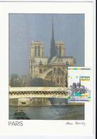 Carte Maximum PARIS - CATHEDRALE  Notre Dame De Paris -yvert 2582 - 1980-89
