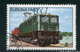 BURKINA- Y&T N°656- Oblitéré (trains) - Burkina Faso (1984-...)