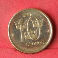SWEDEN 10 KRONA 1991 -    KM# 877 - (Nº28375) - Suède