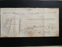 ANNALES PONTS Et CHAUSSEES (Dep92)- Plan Du Siphon De Suresnes -1907 - (CLC33) - Travaux Publics